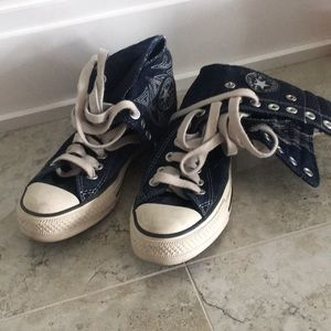 Converse All Star Blue Jean High Low Size 5